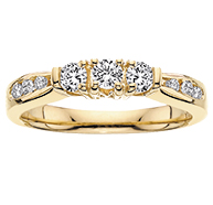 Round Brilliant Cut - The Most Versatile of All Diamond Cuts Anniversary-Ring-with-3-Diamonds-29