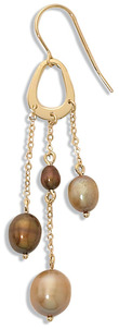 The History of the Pearl, Junes Birthstone Champagne-and-Chocolate-Pearl-Drop-Earrings-78