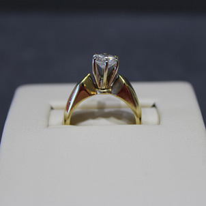 Two Tone Gold Engagement Ring Remount EberingBefore2-70