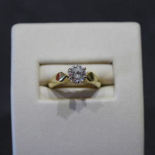 Two Tone Gold Engagement Ring Remount EberingBerfore1-1