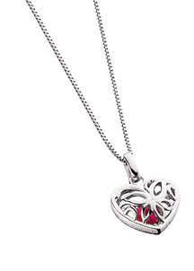 Ruby is the Birthstone for July Heart-Shaped-Pendant-with-a-Heart-Shaped-Created-Ruby-88