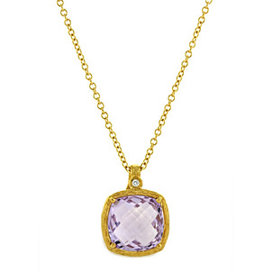 Amethyst: The Birthstone for February  Pink-Amethyst-Pendant-71
