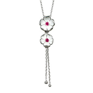 Understanding Ruby Treatments and Enhancment Sterling-Silver-Rose-Necklace-set-with-Ruby-2-32