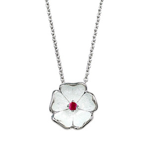 Understanding Ruby Treatments and Enhancment Sterling-Silver-Rose-Necklace-set-with-Ruby-92