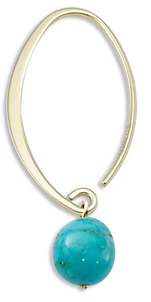 Turquoise, The Captivating Birthstone of December Turquoise-Hoops-4