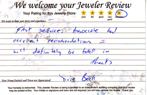 Associate had excellent recommendations davebeck-2011-05-09a-52