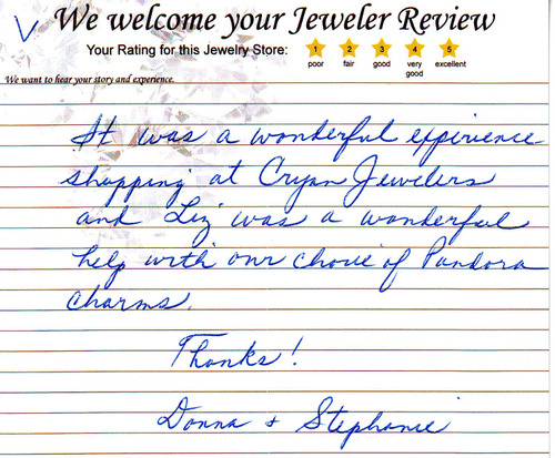 Wonderful experience shopping at Cryan Jewelers donna-stephanie-2011-06-14a-10
